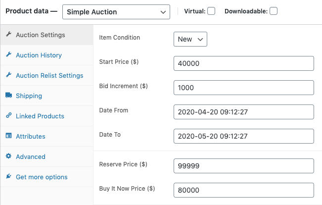 WP Forward Auction Product for WooCommerce