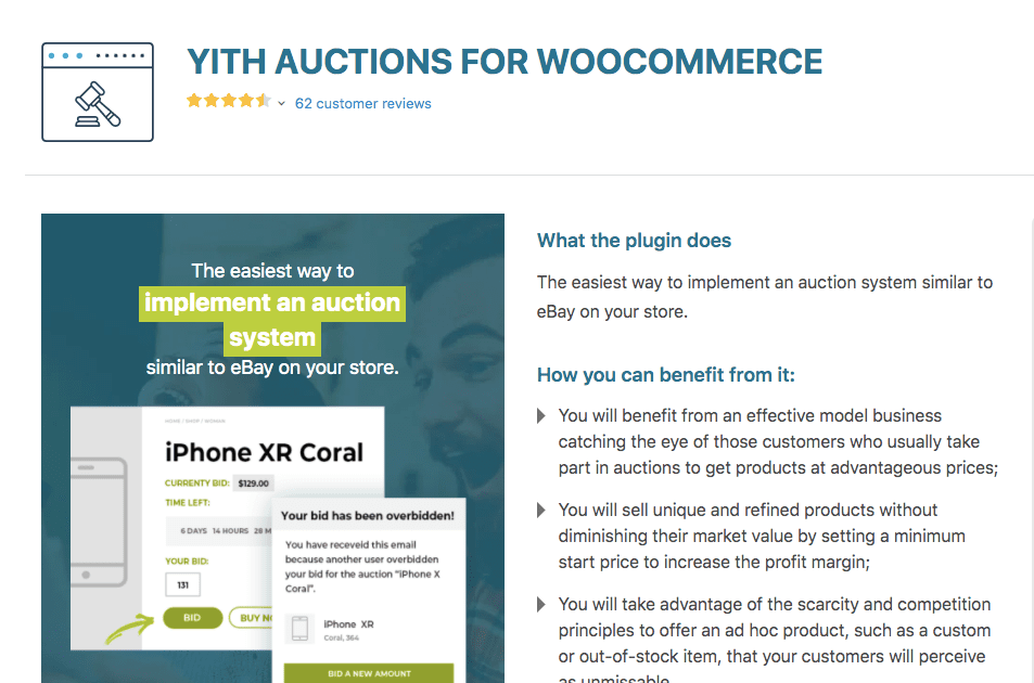 YITH Auctions WooCommerce